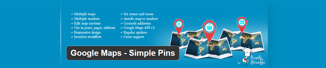 Google Maps – Simple Pins Plugin Demo